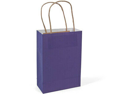 12 Medium Purple Kraft Bags for Gifts or Crafts - 230mm Tall