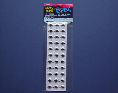 10mm Self Adhesive Printed Googly Eyes for Crafts - 33pk | Wiggly Wobbly Eyes