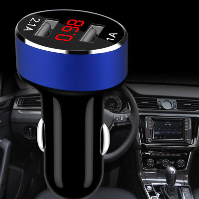 Car Charger 5V/2.1A Dual USB Port Cigarette Lighter Adapter Voltage Gracious NEW
