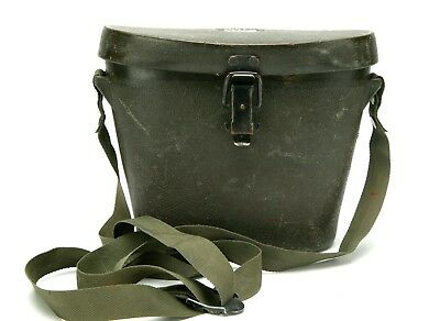 Vintage Mid Size Binocular Carrying Case M62AI With unusual Lock. Old & Good.
