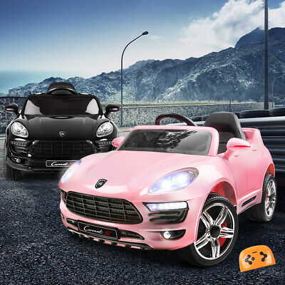 RIGO Kid Ride-On Car PORSCHE MACAN Electric Toys Battery Remote 12V Pink Black