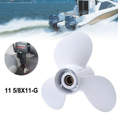 Aluminum 11 5/8 x 11-G Outboards 3 Blade Prop Propeller For YAMAHA 40-60HP