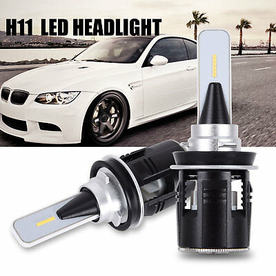 H11 H8 H9 CSP LED Headlight 84W 10400LM Globe 6000K HID White Beam Fog Bulbs Kit