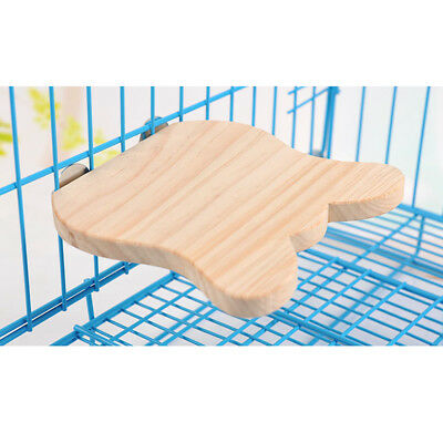 Parrot Wood Pad Toy Small Animals Bunny Guinea Pig Totoro Natural Wood Board