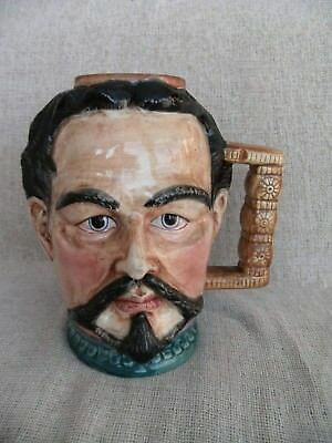 Unusual Large Vintage Character Jug Heavy Quality Nicely Painted Gentleman
