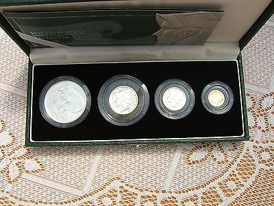 2003 Silver Proof Britannia Four Coin Collection Coa & Cased..royal Mint Issue