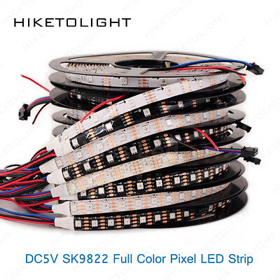 5V SK9822 (Similar APA102) LED Strip 1-5M 30/60/144LEDs/M DATA&CLOCK Seperately