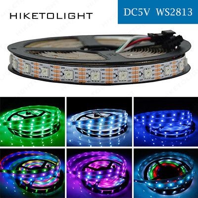 5V WS2813 5050 RGB Digital 1-5M 30/60/144LEDs/M Strip Dual Data Line Addressable