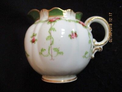 VICTORIAN GEORGE JONES CRESCENT CHINA #16879 FLUTED CREAMER/MILK JUG c.1890's EX