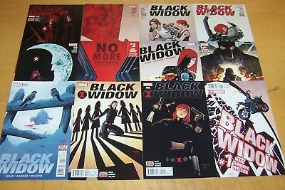 Marvel Comics Black Widow 1-12 Full Set Waid Samnee 2016/17
