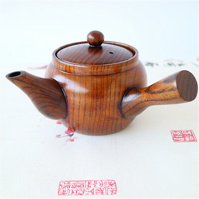 Japanese Tea Pot Wood Kettle With Infuser Coffee Tea Leaf Herbal Pot Gift