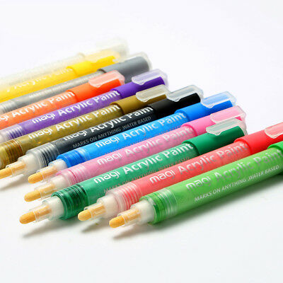 Permanent Acrylic Paint Markers Pens for Glass, Metal, Wood, Ceramic, Fabric