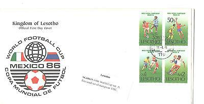 Lesotho Sg686/9 1986 World Cup Set Used On Fdc