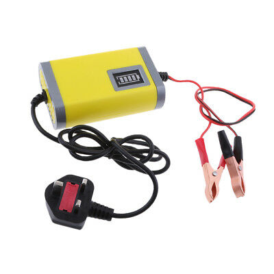 Automatic Electric Car Battery Charger 2A 12V Intelligent Pulse Yellow