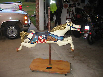 Large Carousel Horse Solid Wood Americana