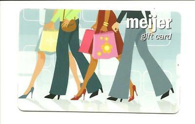 Meijer Women Shopping Gift Card No $ Value Collectible