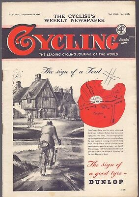 Vintage Cycling Magazine 29th September 1948 The Cyclist's Newspaper (BB 2)