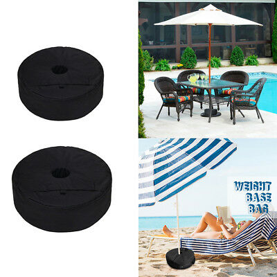 "15""/18"" Dia. Heavy Duty Round Patio Beach Umbrella Base Weight Sand Bag"