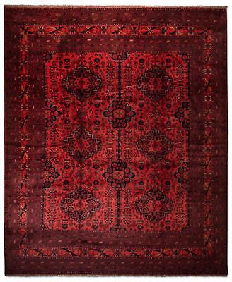 East Afghan Khal Mohammadi Rug 387 x 301 Cm Red Hand Knotted