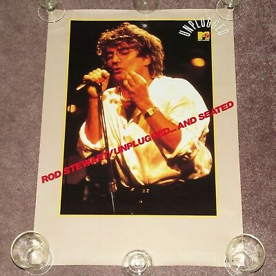 ROD STEWART Unplugged... And Seated - RARE 1993 JAPAN PROMO POSTER (Japanese)
