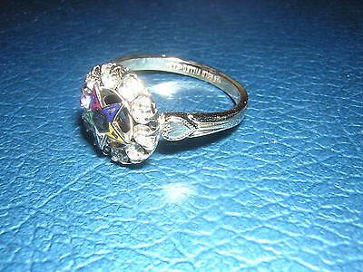 10 Stone Heart 10k gold filled ORDER EASTERN STAR Ring 3,4,5,7,8,9,10,11,12,13