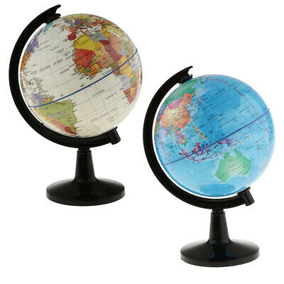 World Globe for Home Desk Decoration Geography Educational Toys 16cm Height