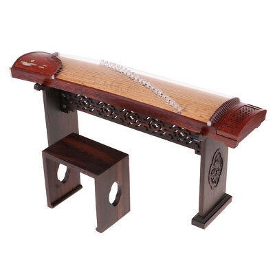Miniature Chinese Zither Guzheng Model Replica Hobby Collectibles 1/6 Scale