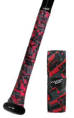 Vulcan Advanced Polymer Bat Grips - Light 1.00 Mm - Red Sizzle