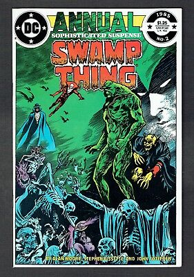 Swamp Thing Annual #2 DC Comics 1985 FN+ Justice League Dark App Back Cvr Tear