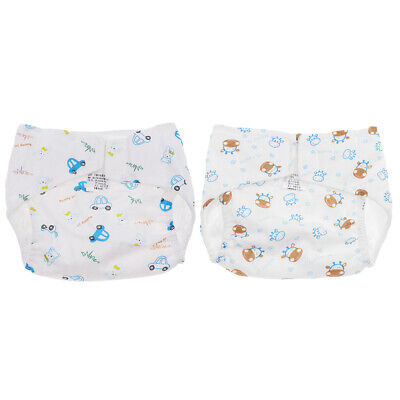 Reusable Baby Kids Adjustable Cartoon Cotton Cloth Diapers Cover Washable