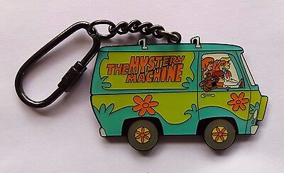 Uk Scooby Doo Mystery Machine Exclusive Metal Key Chain Keyring Free S/h