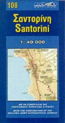 Map of Santorini (Maps of Greek islands) by Murley, Loveday Sheet map Book The