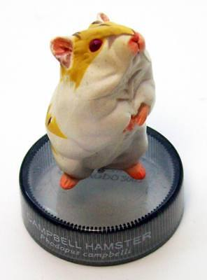 Kaiyodo Bottle Cap Figure Hamster's Lunch Campbell's dwarf hamster albino new