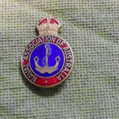 #D406.   Naval Association Of Australia  Badge #L7027