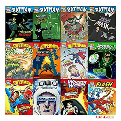 DC Superheroes Collection 12 Books Set Superman The Shrinking City Ice and Flame