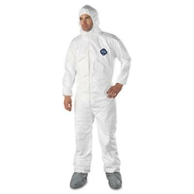 DuPont 251-TY122S-L Tyvek Elastic-cuff Hooded Coveralls W/boots, (251ty122sl)