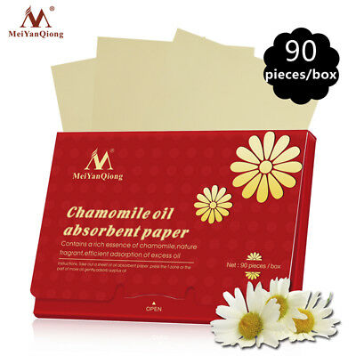 90Pcs Face Oil Blotting Paper Chamomile Absorbent Sheet Oil Control Paper Tool