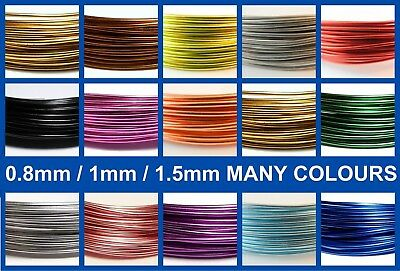 6-12 Meters 0.8/1/1.5mm Florist Floral Beading Aluminium Craft Wire Many Colours