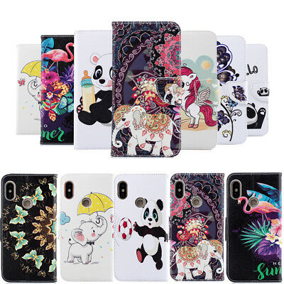 PU Leather Case Wallet Printed Folio Flip Magnetic Closure Cover For Redmi 5A 4X