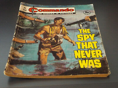Commando War Comic Number 534!,1971 Issue,good For Age,47 Years Old,very Rare.