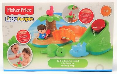 Fisher-Price DFN28 Little People Spill and Surprise Island Bath Toy Playset