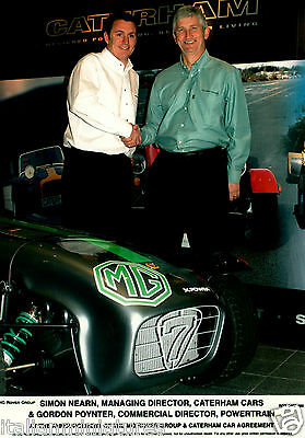 MG X Power & Caterham Car Agreement 2002 Original Press Photograph 21.5 x 15 cm