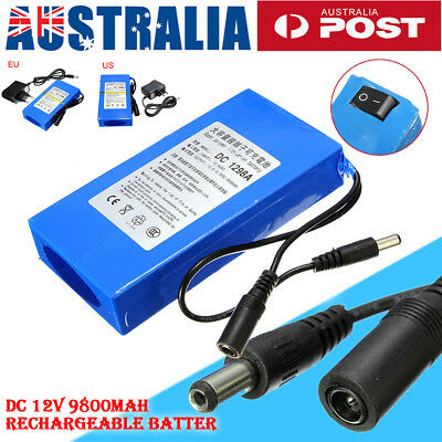 Portable 9800mAh DC12V Lithium Battery Pack Rechargeable Battery For CCTV Camera