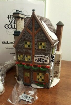 Dept 56 Dickens Village Series - 1993 KINGSFORD'S BREW HOUSE 58114 RETIRED 1996