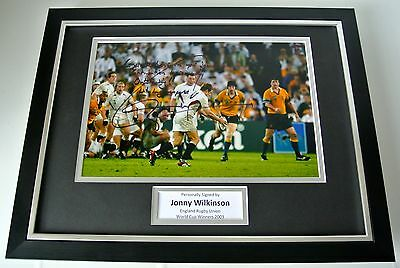 Jonny Wilkinson SIGNED FRAMED Photo Autograph 16x12 display Rugby World Cup 2003