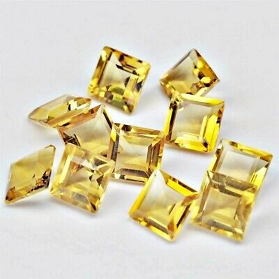 Wholesale Lot of 5mm Square Cut Natural Citrine Loose Calibrated Gemstone