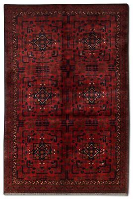 East Afghan Khal Mohammadi Rug 188 x 123 Cm Red Hand Knotted