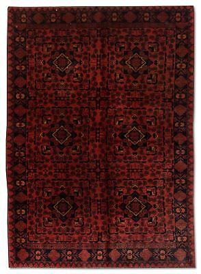 East Afghan Khal Mohammadi Rug 189 x 123 Cm Red Hand Knotted