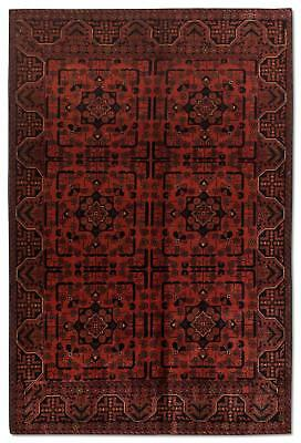 East Afghan Khal Mohammadi Rug 194 x 124 Cm Red Hand Knotted