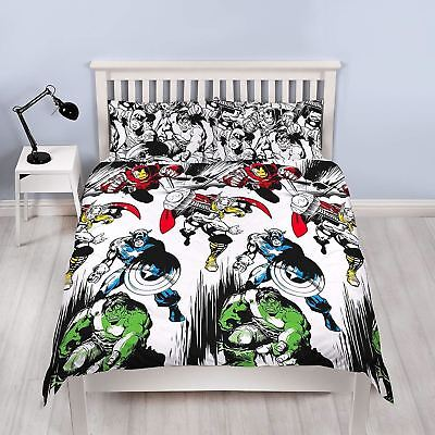 Marvel Comics Crop Double Duvet Cover Rotary Bedding Set